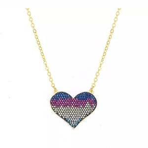 New crystal heart necklace